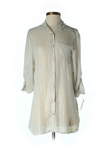 Alice + Olivia Metallic Shirt Dress