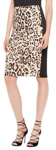 Vince Camuto Scuba Animal Pencil Skirt Rich Black