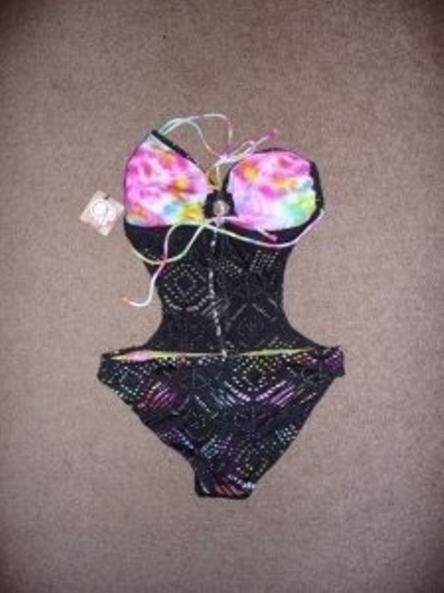 OP Monokini Black cutouts showoff brightly colored lining