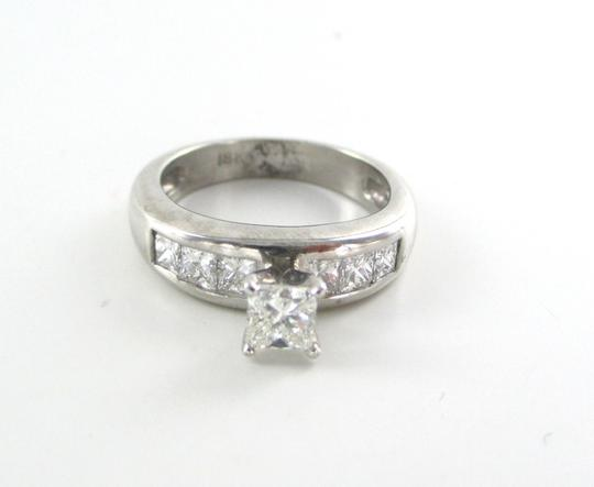 Other 18K SOLID WHITE GOLD 7 DIAMONDS 1.05 CARAT BAND WEDDING ENGAGEMENT RING JEWELRY