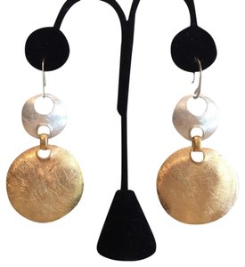 Bhoom Shanti BOHEMIAN EARRINGS in BRASS & SILVER