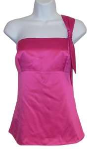 Ann Taylor LOFT Satin Machine Washable Top Pink