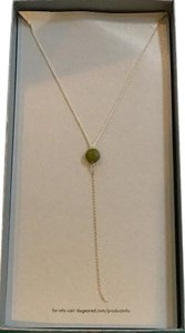 """Dogeared Dogeared Jade Faceted Y Necklace 24"""""""