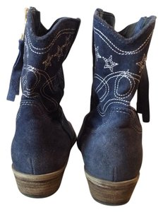 Boutique 9 light navy blue suede Boots
