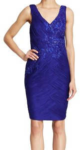 Sue Wong N4318 Ruched Beaded Sheath Dress
