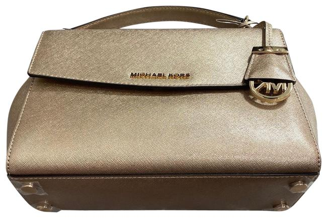 Item - Ava Small Top Handle Pale Gold Leather Satchel