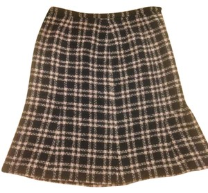 Jones New York Pencil Plaid Checkered Skirt Pink & Black