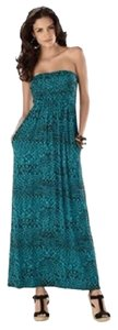 Turquoise & Black Maxi Dress by Soma Intimates Convertible Maxi Strapless Halter