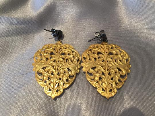 BHOOM SHANTI EARRINGS BOHEMIAN EARRINGS in BRASS & JEWELS