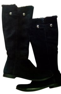 Arturo Chiang Suede Silver Hardware black Boots