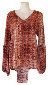 Mossimo Supply Co. High Low Bell Sleeves V-neck Top orange