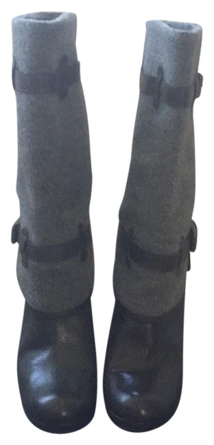 Item - Dark Brown and Grey Air Kennedy Buckle Boots/Booties Size US 8.5 Regular (M, B)