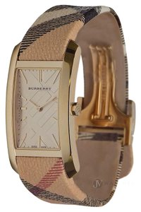 Burberry BRAND NEW WOMENS BURBERRY (BU9407) PIONEER GOLD HAYMARKET WATCH