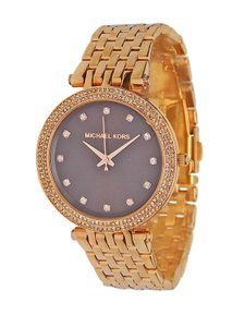 Michael Kors NWT WOMENS MICHAEL KORS (MK3217) DARCI ROSE GOLD BROWN GLITZ WATCH