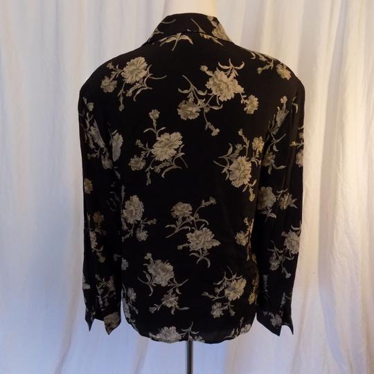 af410572 30%OFF Jones New York Black And Gray Classic Floral Long Sleeve Rayon  Career Top