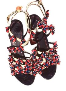 Tory Burch Neutral , Red & Blue Sandals