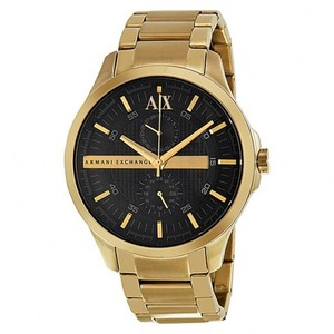 A|X Armani Exchange Armani Exchange Men's AX2122 Black Dial Gold Tone Stainless Watch