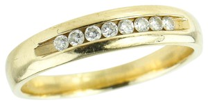 Diamond Gold band * 14K Diamonds on Yellow Gold Band