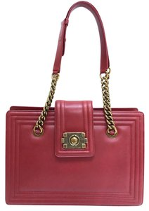 Chanel Boy Tote in red