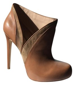 Alejandro Ingelmo Leather Stiletto Bootie tan Pumps