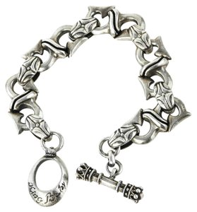 King Baby King Baby Gothic Large Silver Bracelet
