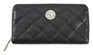 DKNY DKNY Black quilted zip around wallet