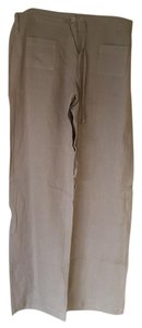 Johnny Was Linen Flowy Beach Trouser Pants Neutral