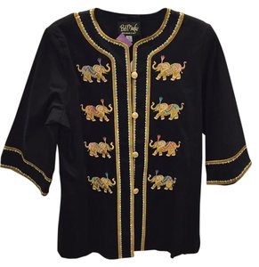 Bob Mackie Embroidered Black Jacket