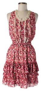 McGinn short dress Sleeveless Floral Ruffle Lace Trim on Tradesy