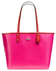 Coach Satchel Shoulder Tote in pink Carmine GOLD TONE