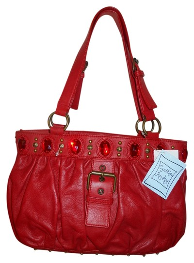 Preload https://item3.tradesy.com/images/cynthia-rowley-studded-and-jeweled-red-leather-shoulder-bag-1971337-0-0.jpg?width=440&height=440