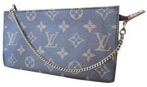 Louis Vuitton Iphone Apple Cell Phone Makeup Clutch Wristlet in Brown Monogram