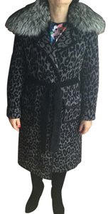 St. John Unique Elegant Fur Trimmed Luxury Fur Coat