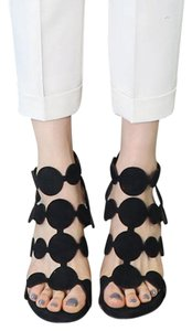 Heeled Sandal Peep Toe black Sandals