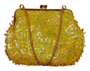 JEM Satin? Evening Yellow Clutch