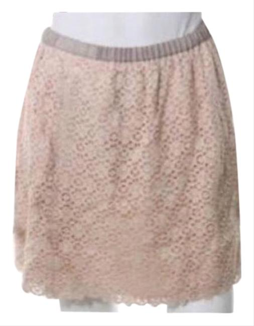 Item - Blush Pink & Taupe Lace Crochet Skirt Size 4 (S, 27)