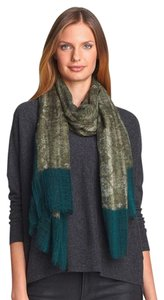 Eileen Fisher nwt Two-Tone Gauzy Wool Scarf