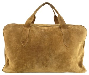 A.P.C. Suede Embossed Duffle Travel Tan Travel Bag
