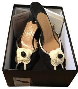Chanel Black And Cream Black, Ivory Sandals