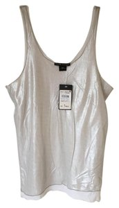 Ralph Lauren Sleeveless Comfortable Top Silver and white