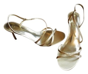 Lauren Ralph Lauren Strappy Gold Sandals