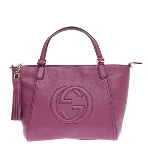 Gucci Leather Tote in Purple