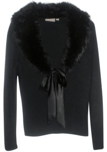 Croft & Barrow Faux Fur Collar Ribbon Front Tie Jacket Duo Cardigan