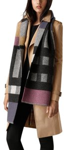 Burberry BURBERRY PATCHWORK CHECK WOOL CASHMERE BLANKET SCARF