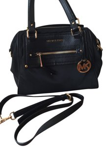 Michael Kors Crossbody Like New Nylon Leather Gold Hardware Shoulder Bag