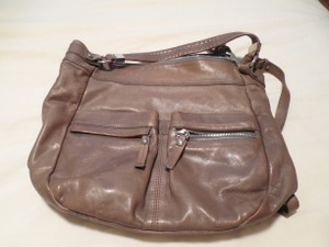 Via Republicca Brown Leather Cross Body Bag