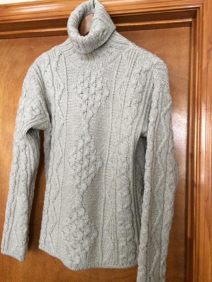 Inis crafts stone fine wool sweater pullover size 8 m for Inis crafts ireland sweater