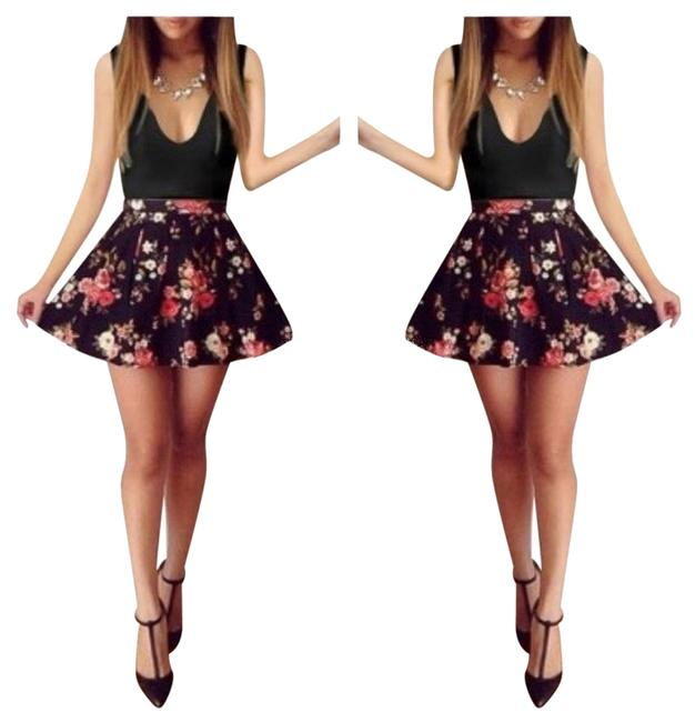 Other short dress Black + Floral on Tradesy