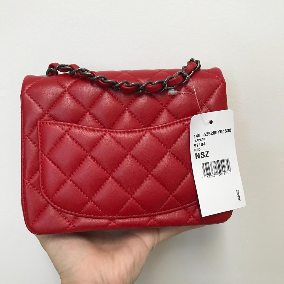 7d040262 Chanel Accepting Best Offer Mini Flap (Square) Red Lambskin Cross Body Bag