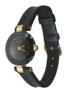 Rado RADO 18k Gold Plated/Black dial Ladies Watch